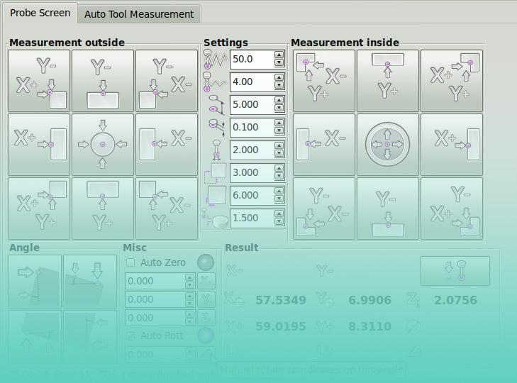 Probe Screen V1 LinuxCNC